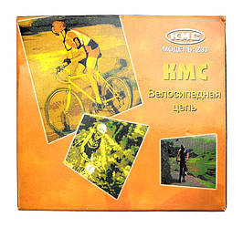 Цепь KMC Z33 для 5/6 скоростных трансмиссий горного велосипеда Хром
