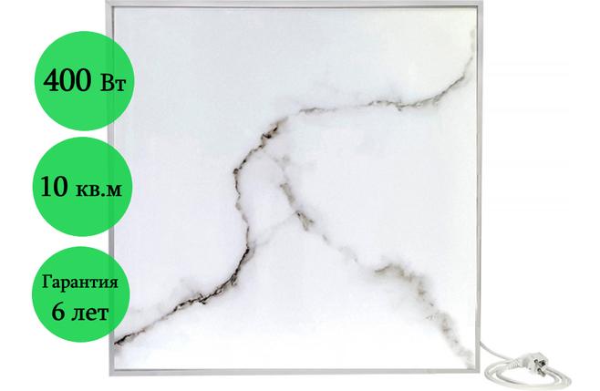 Инфракрасный керамический обогреватель ECOTEPLO AIR ME 400 Вт (белый мрамор), фото 2