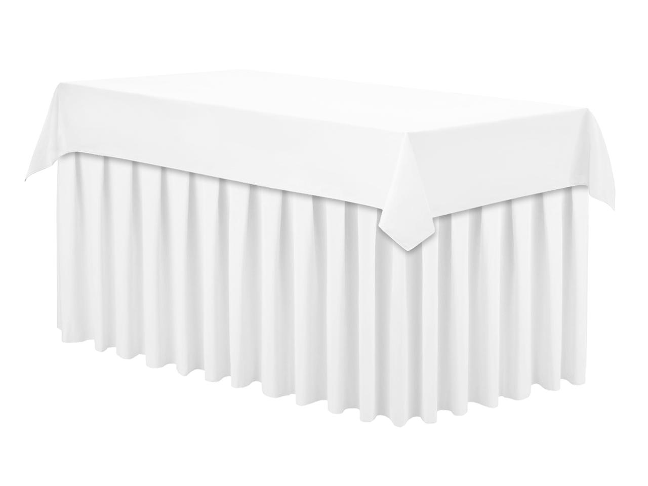 Скатертина 120х190см Біла Наперон з Тефлоновим просоченням на стіл 80х150см Туреччина