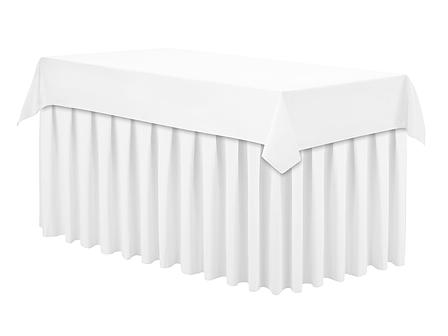 Скатертина 120х190см Біла Наперон з Тефлоновим просоченням на стіл 80х150см Туреччина, фото 2