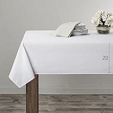 Скатертина 120х190см Біла Наперон з Тефлоновим просоченням на стіл 80х150см Туреччина, фото 3