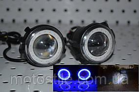 Светодиодные LED-фары под зеркала Линза на мотоцикл