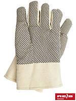 Утеплённые защитные перчатки из тика с точечным покрытием из ПВХ RNo BEB