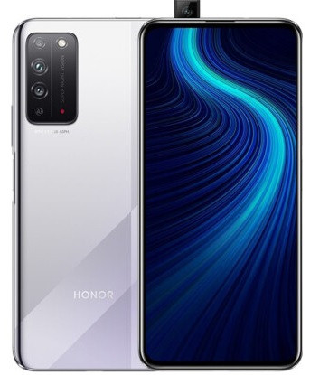 "Смартфон Huawei Honor X10 6/64Gb silver, 40+8+2/16Мп, 6.63"" IPS, 4300mAh, 2SIM, 4G, HiSilicon Kirin 820"