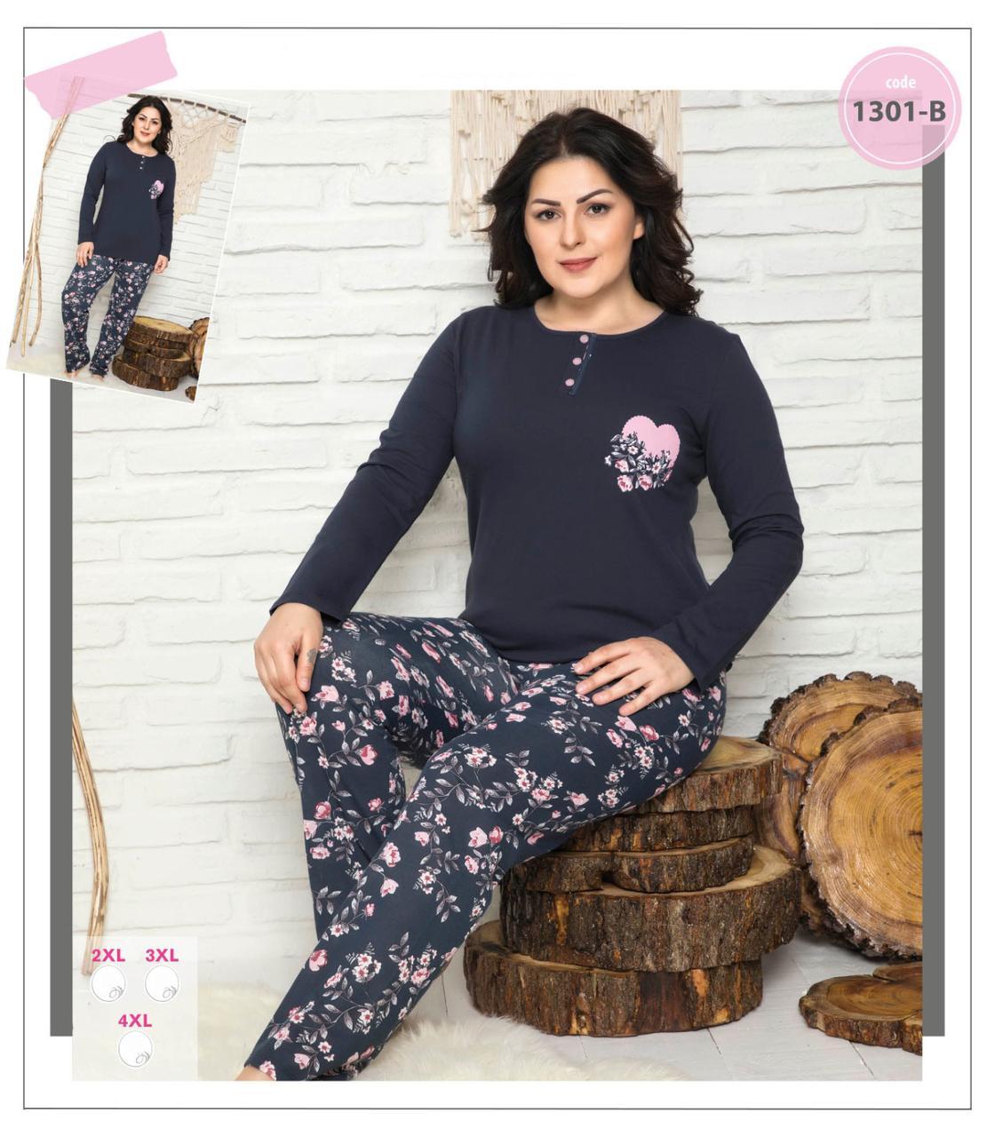Женская пижама (кофта и брюки) большие размеры