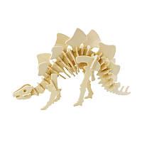 Деревянный 3D конструктор Robotime JP221 Стегозавр детский