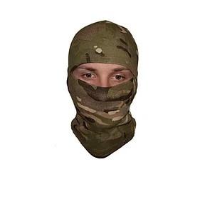 Летняя балаклава (подшлемник - маска, мультикам) с вырезом для глаз