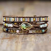 Жіночий браслет з натуральних каменів «Містика», фото 1