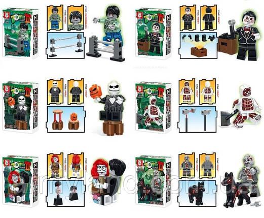 Зомби фигурки, детский конструктор, фото 2