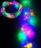 Электрическая гирлянда Пучок роса  240 LED 10 линий по 2.4 м, мульти, фото 2