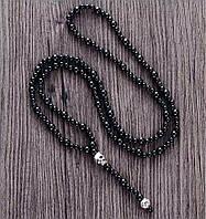 Мужское ожерелье-четки с черепом