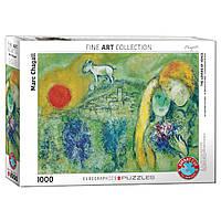 Пазл Eurographics Вид на Париж. Марк Шагал, 1000 элементов