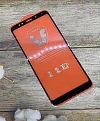Xiaomi Redmi 5 plus защитное стекло 5D 6D 9D 11D полное покрытие Full glue полный клей (черная рамка)