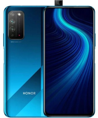 "Смартфон Huawei Honor X10 6/64Gb blue, 40+8+2/16Мп, 6.63"" IPS, 4300mAh, 2SIM, 4G, HiSilicon Kirin 820"