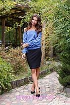 Костюм майка юбка кофта французский трикотаж, фото 3