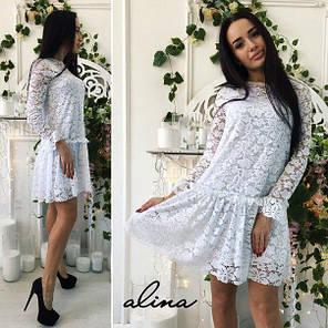 Сукня з дорогого гіпюру на трикотажній підкладці, фото 2