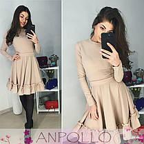 Платье расклешенное с рюшей, фото 2