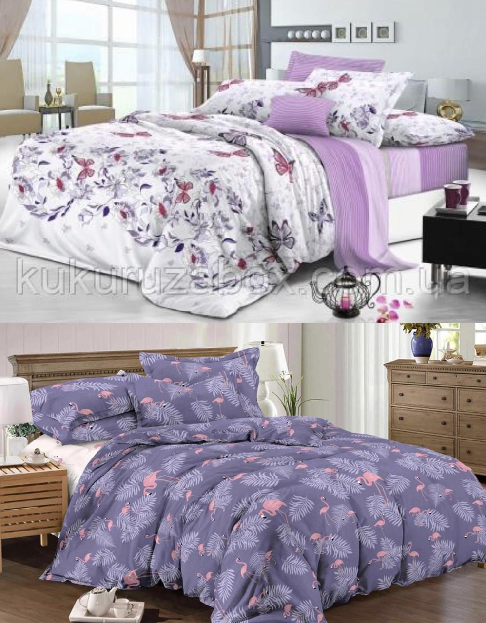 Двуспальные комплекты постельного белья «Фиолетовая нежность» 177х217 см из сатина