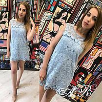 Платье кружевное без рукавов набивной гипюр, фото 3