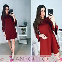 Платье с рюшками свободного кроя под пояс, фото 3
