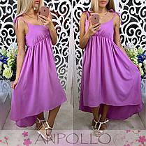 Сукня сарафан літній вільний на бретелях, фото 3