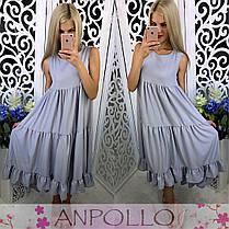 Платье сарафан летнее свободное высокая талия, фото 3