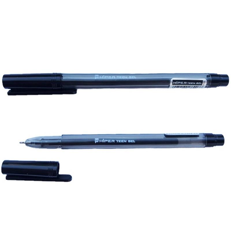 Ручка гелева Hiper Teen Gel HG-125 0,6 мм чорна напівпрозорий корпус чорний