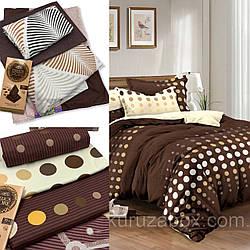 Двуспальные комплекты постельного белья «Шоколадные» 177х217 см из сатина