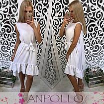 Сукня сарафан літній вільний під пояс, фото 2