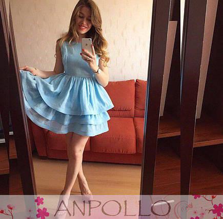 Сукня з потрійним воланом талія на гумці, фото 2