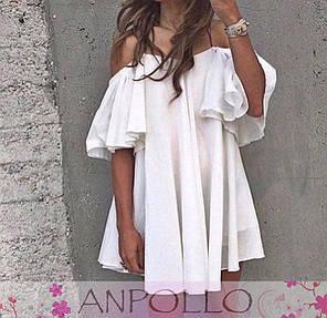 Сукня сарафан літній на бретельках вільний шифон, фото 2