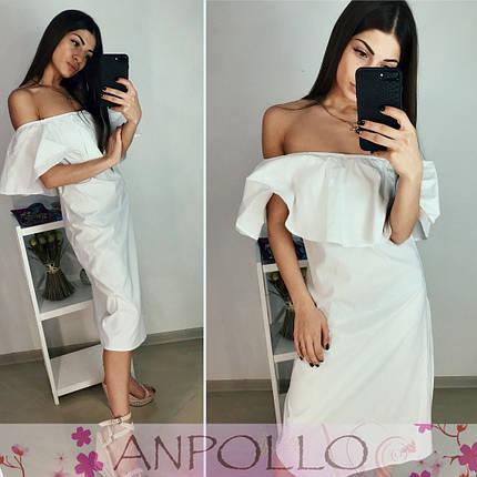 Сукня силуетне з воланом з відкритими плечима, фото 2