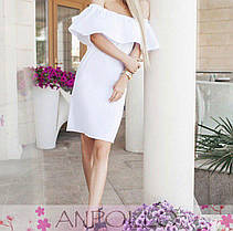 Сукня силуетне з воланом з відкритими плечима, фото 3