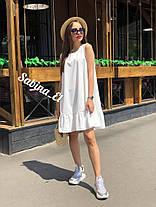 Платье сарафан летнее разлетайка с воланом снизу, фото 3