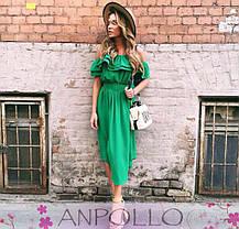 Платье летнее с открытыми плечами и двойной рюшей, фото 3