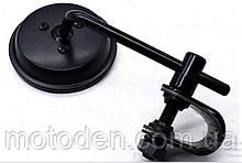 Зеркало ретро 1шт!!! черное (вариант 13) поштучно круглое регулируемое (крепление-обжим 22-25мм)