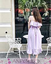 Платье на тонких бретельках с рюшей на груди хлопок, фото 2