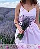Платье из хлопка на бретелях с поясом выше колена, фото 5