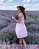 Платье из хлопка на бретелях с поясом выше колена, фото 6