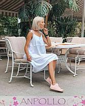 Платье сарафан свободное на бретелях сзади длиннее, фото 2