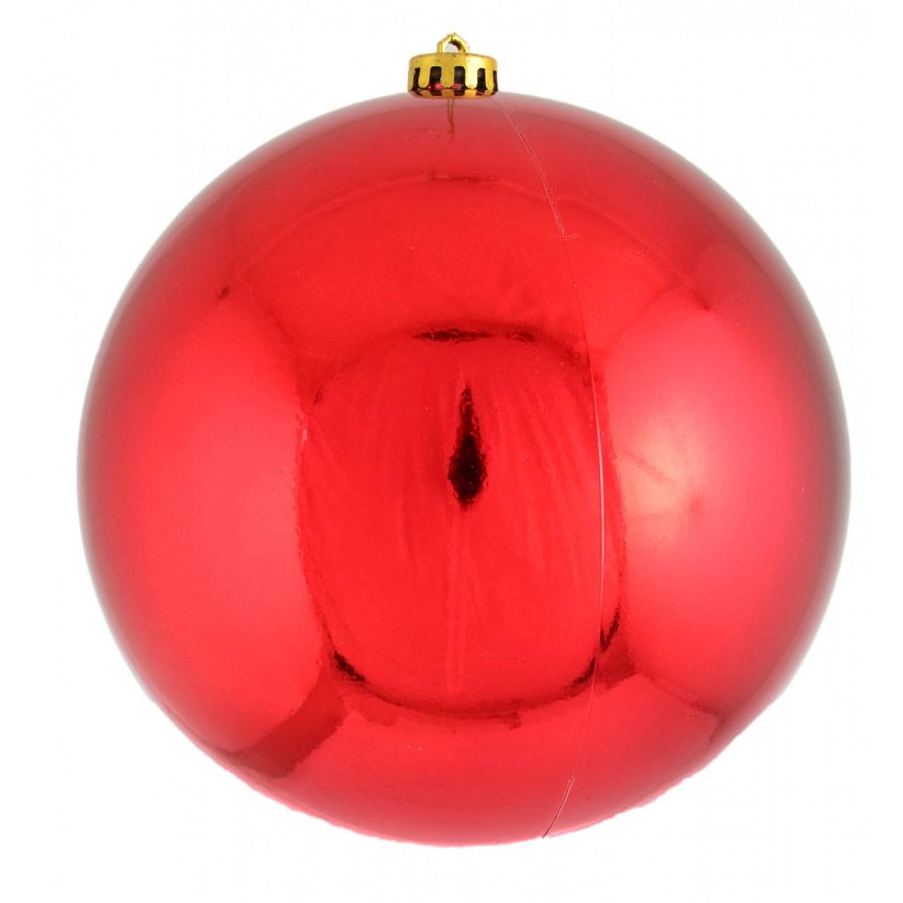 Шар d-20 см красный глянец