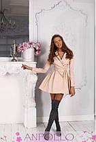 Платье мини на запах с пуговицами с вырезом, фото 3