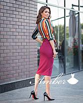 Костюмчик блуза в полоску и юбка с разрезом, фото 3