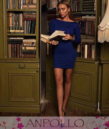 Платье обтягивающее мини с длинным рукавом, фото 2