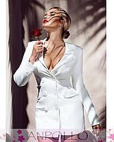 Сукня жакет на гудзиками з довгим рукавом і кишенями, фото 2