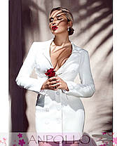 Сукня жакет на гудзиками з довгим рукавом і кишенями, фото 3