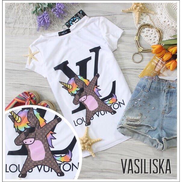 Модные футболки с рисунками на лето черная и белая