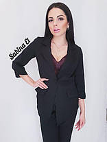 Костюм брюки высокая посадка и пиджак на пуговице, фото 3