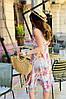 Легкое платье сарафан ниже колена из софта с принтами, фото 3