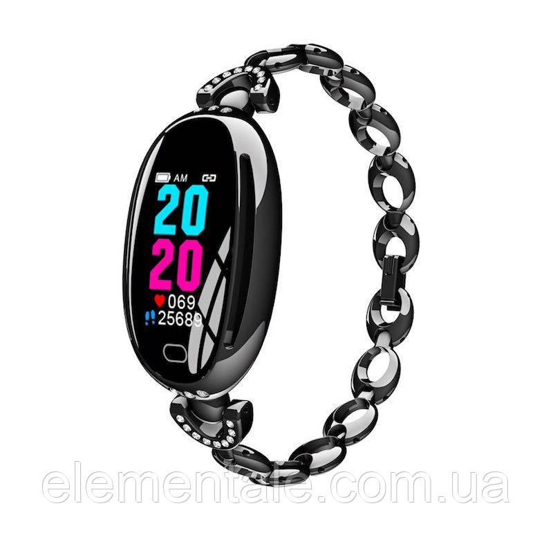 Умные часы Smart watch Smart  Fit E68 Original c тонометром Black